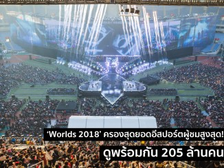 Worlds 2018 ครองสุดยอดอีสปอร์ตผู้ชมสูงสุด!